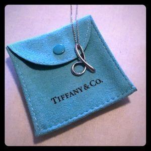 Tiffany & Co.  Letter D pendant necklace